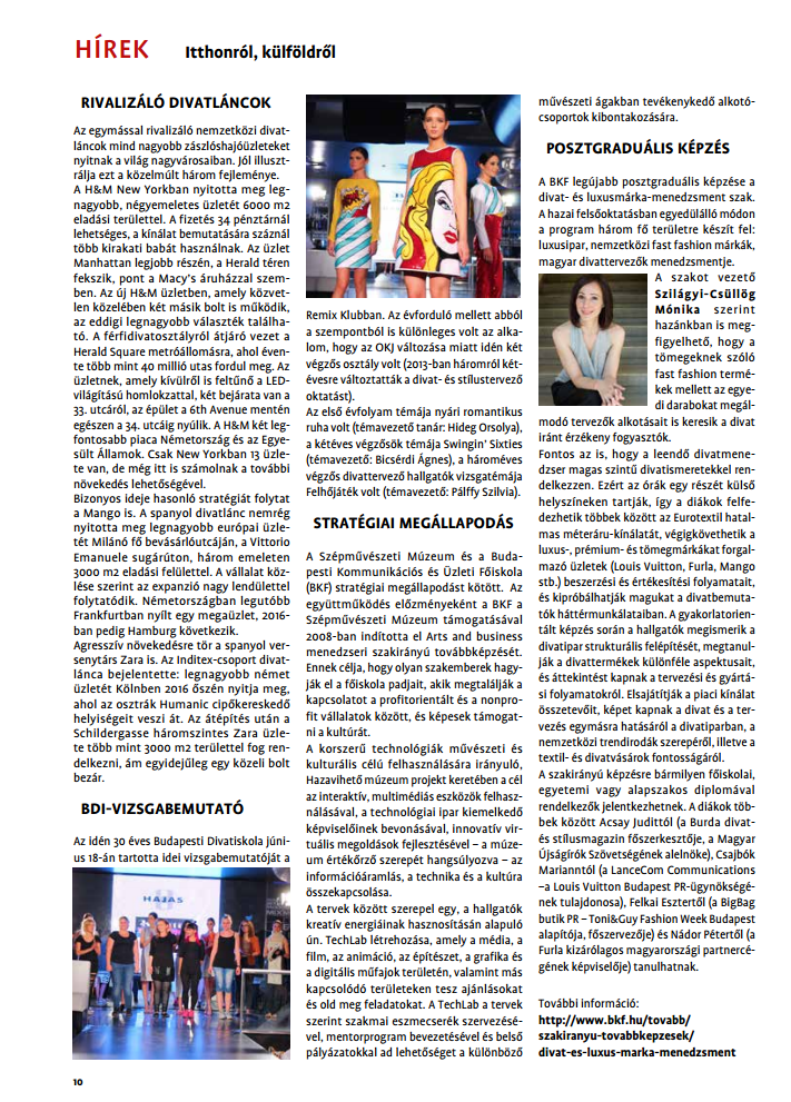 Média megjelenés - DivatMarketing 2015/5-6